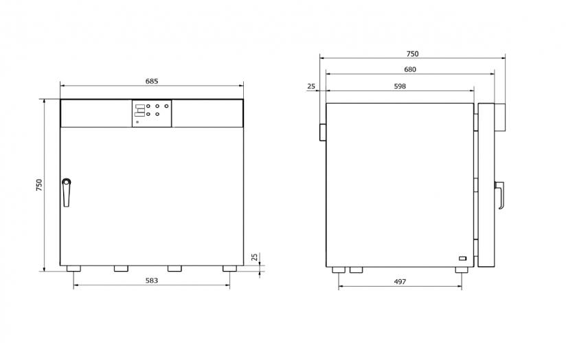 Model dimensions 115