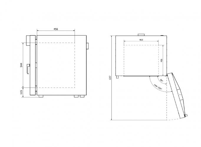 Model interior dimensions 115